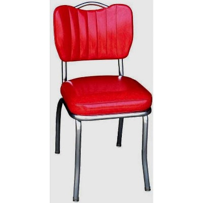 Handle Back Diner Chair Cracked Ice Red - Richardson Seating