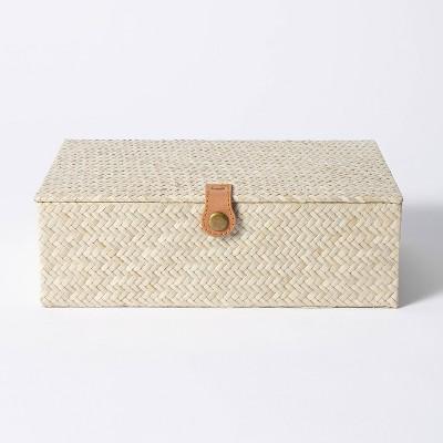 "3.5"" x 10"" Pandan Zig-Zag Woven Box - Threshold™ designed with Studio McGee"