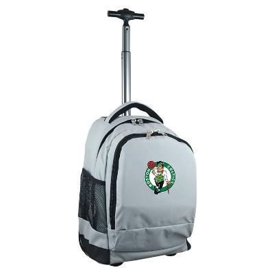 NBA Boston Celtics Mojo Premium Wheeled Backpack - Gray