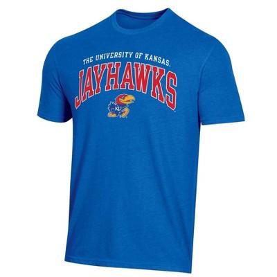NCAA Kansas Jayhawks Men's Short Sleeve Heather T-Shirt
