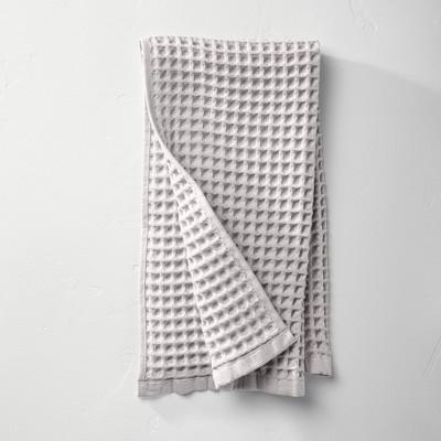 Waffle Hand Towel Light Gray - Casaluna™
