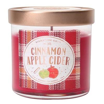 4oz Small Lidded Jar Candle Cinnamon Apple Cider - Signature Soy