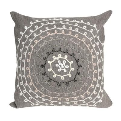 Gray Ombre Threads Throw Pillow (20 x20 )- Liora Manne