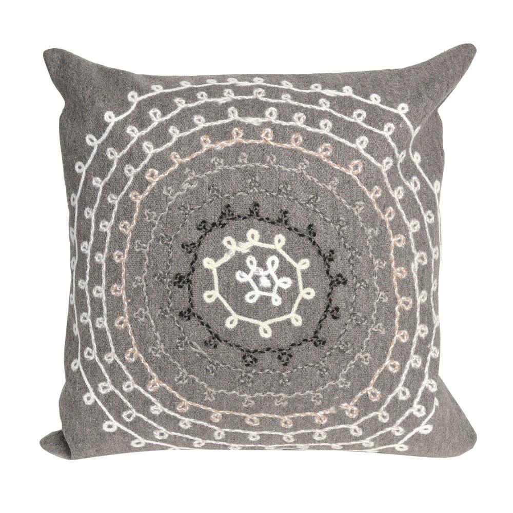 Gray Ombre Threads Throw Pillow (20