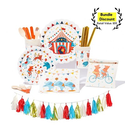 91pc Carnival Party Supplies Great Value Essential Kit
