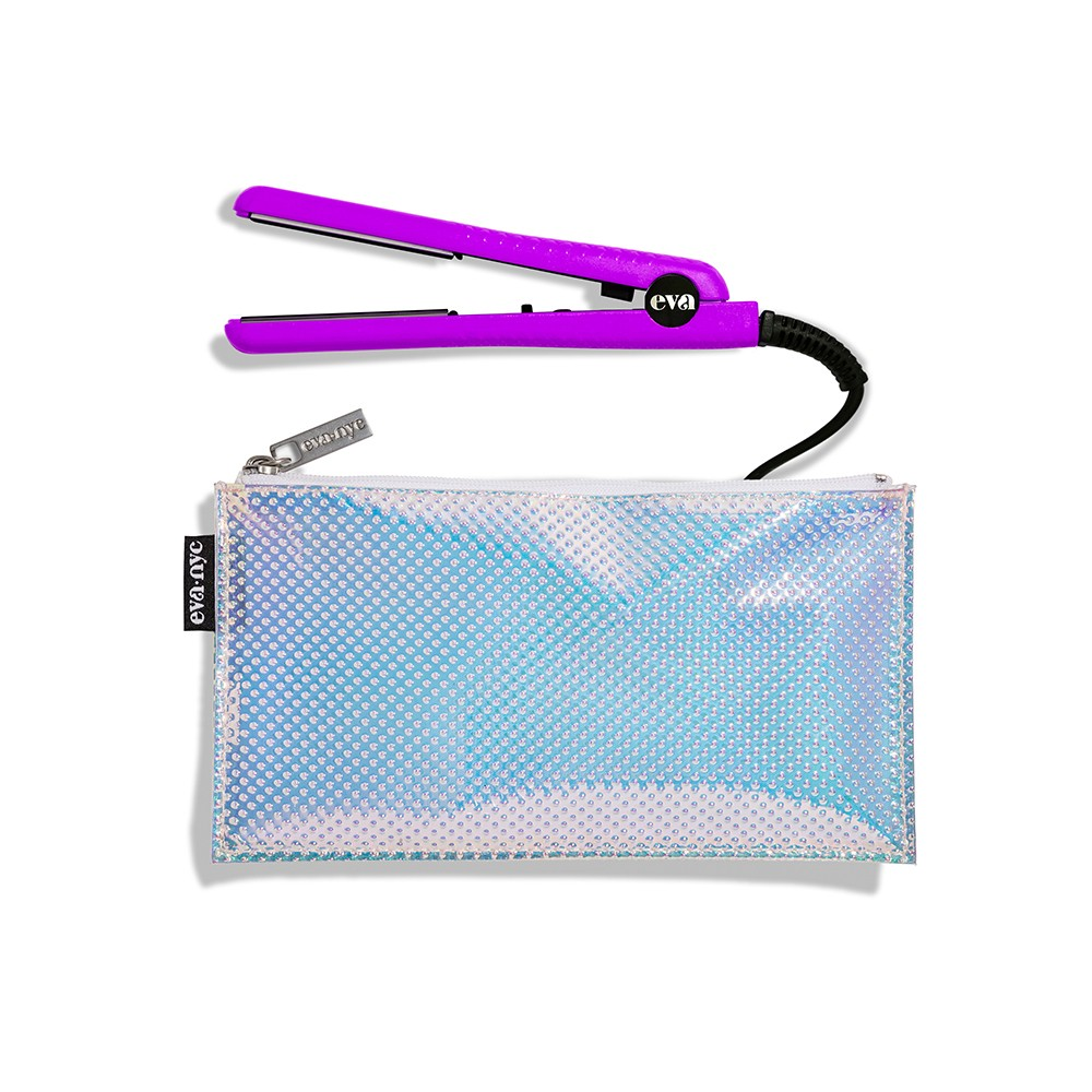 "Image of ""Eva NYC Mini Healthy Heat Ceramic Styling Iron - 1/2"""", Purple"""