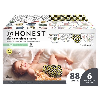 The Honest Company Disposable Diapers - (Select Size and Pattern)