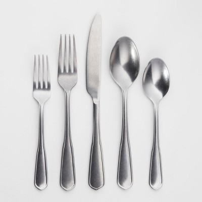 Kellen 20pc Silverware Set Rumble Finish - Threshold™