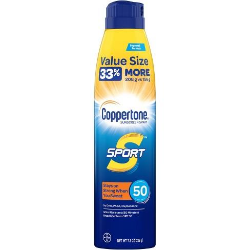 Coppertone Sport Sunscreen Spray - SPF 50 - 7.3oz Value Size - image 1 of 4
