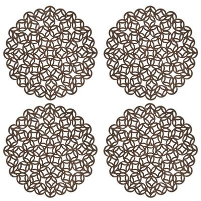 4pk Wood Laser Cut Tablemats - Saro Lifestyle