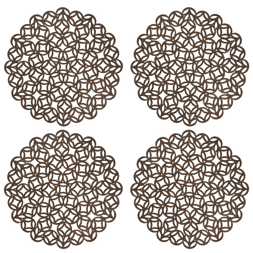 Image of 4pk Wood Laser Cut Tablemats - Saro Lifestyle