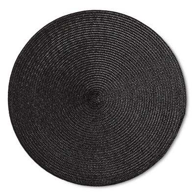 Black Solid Placemat - Room Essentials™