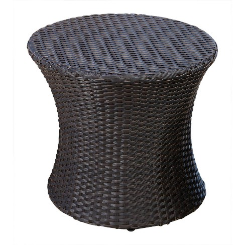 Sensational Newport Outdoor Wicker End Table Espresso Abbyson Living Caraccident5 Cool Chair Designs And Ideas Caraccident5Info