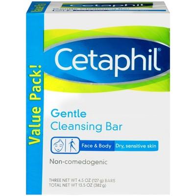 Cetaphil Gentle Cleansing Bar Soap - 3pk - 13.5oz each