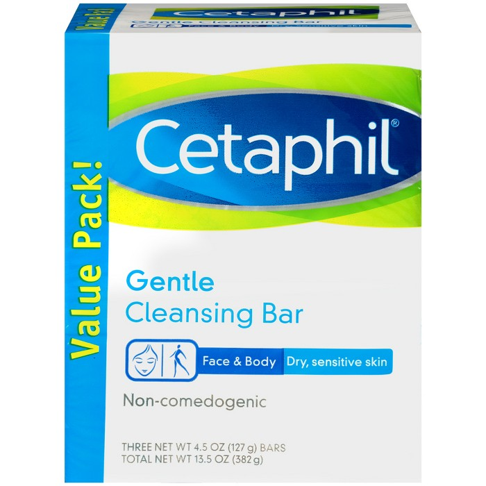 Cetaphil Gentle Cleansing Bar Soap - 3pk - 13.5oz Each : Target