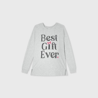Maternity Best Gift Ever Holiday Graphic Sweatshirt - Isabel Maternity by Ingrid & Isabel™ Gray XXL