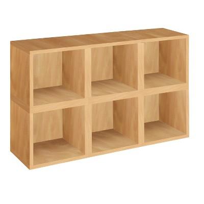 Way Basics 6 Stackable Eco Cubes Storage, Natural - Formaldehyde Free - Lifetime Guarantee