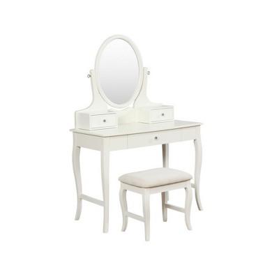 April Ivory Vanity Set Ivory - Linon