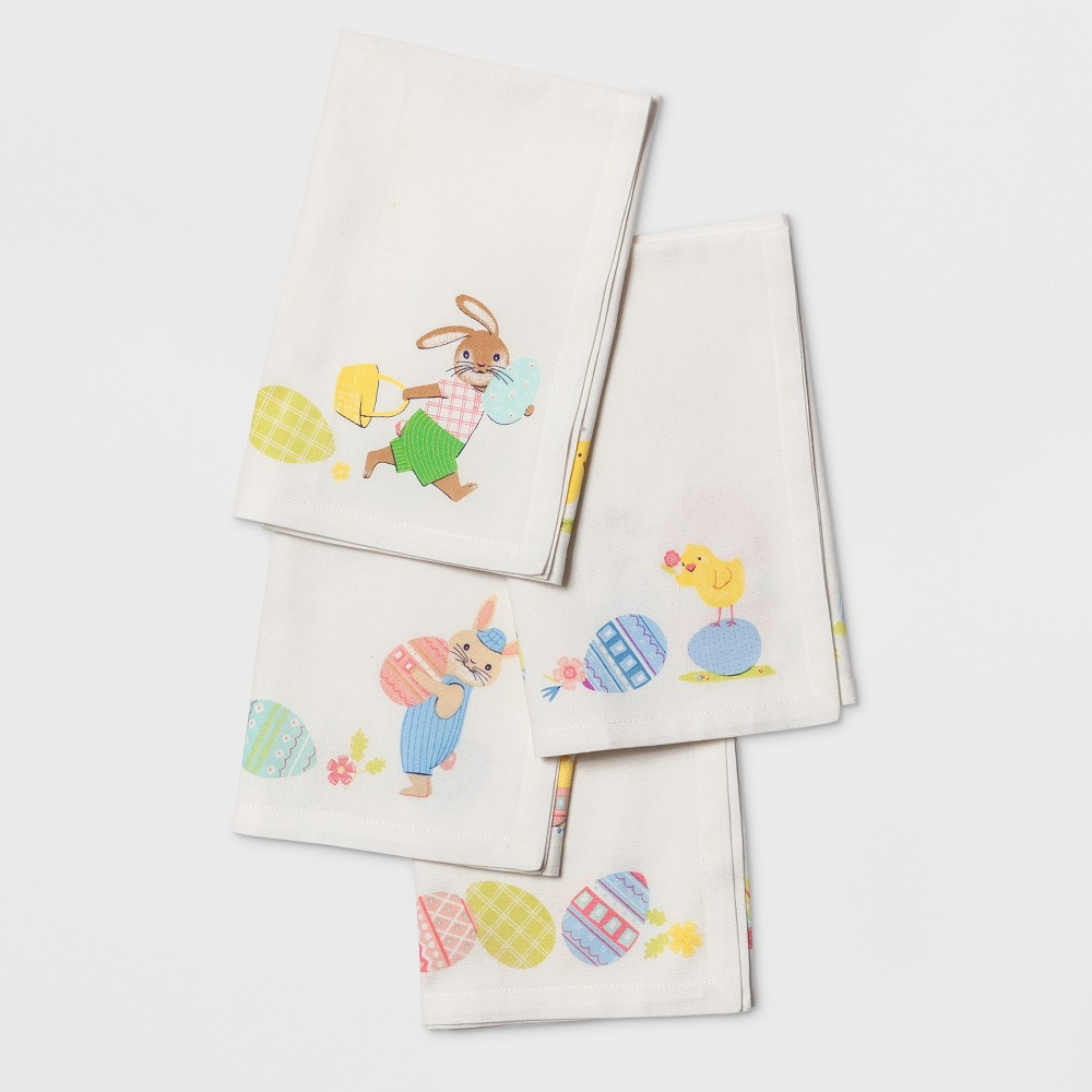 Image of 4pk Easter Napkin White - Spritz