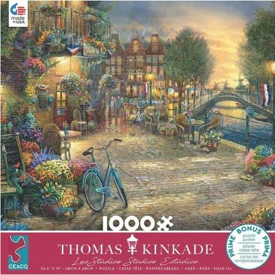Ceaco Thomas Kinkade: Amsterdam Cafe Jigsaw Puzzle - 1000pc