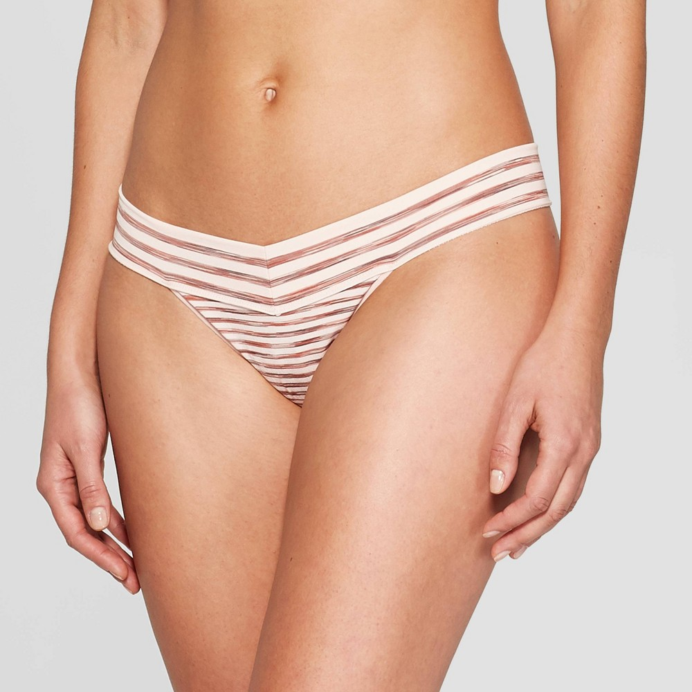 Women's Seamless Thong - Auden Casual Pink M, Cosmetic Space Dye