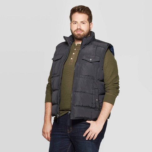 Men's Big & Tall Sleeveless Quilted Midweight Vest - Goodfellow & Co™ - image 1 of 2