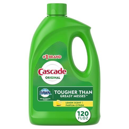 Cascade Base Gel Lemon Dishwasher Detergent - 120 fl oz - image 1 of 4