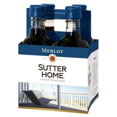 Sutter Home Merlot Red Wine - 4pk/187ml Bottles