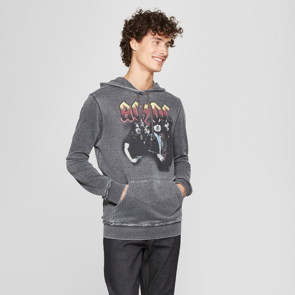 Junk Food Men's AC/DC Long Sleeve Hooded Sweatshirt - Jet Black XL
