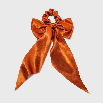 Satin Tail Bow Hair twister - A New Day™ Rust