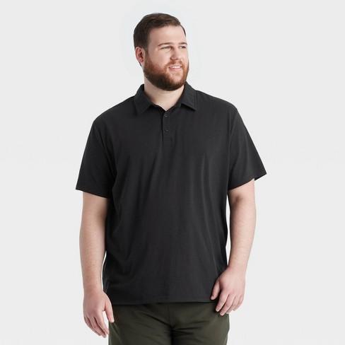 Men's Short Sleeve Polo Shirt - All in Motion™ Black S