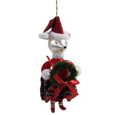 "Italian Ornaments 5.5"" Mrs Claus Mouse Ornament Italian Christmas  -  Tree Ornaments"