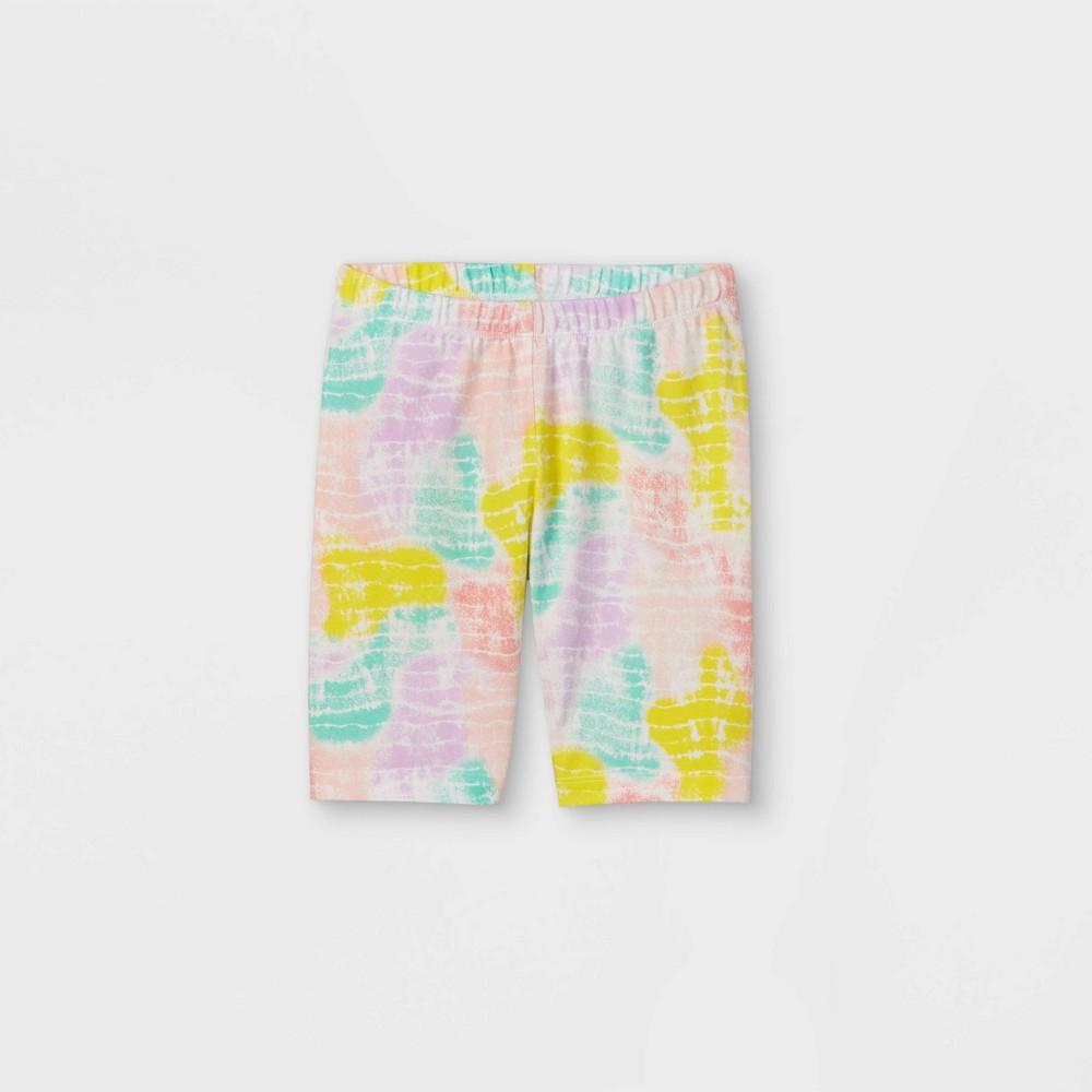 Girls 39 Mid Length Tie Dye Bike Shorts Cat 38 Jack 8482 White Xs