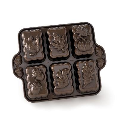 Nordic Ware Harvest Mini Loaf Pan, Bronze