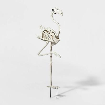 Flamingo Skeleton Yard Stake Halloween Decorative Prop - Hyde & EEK! Boutique™