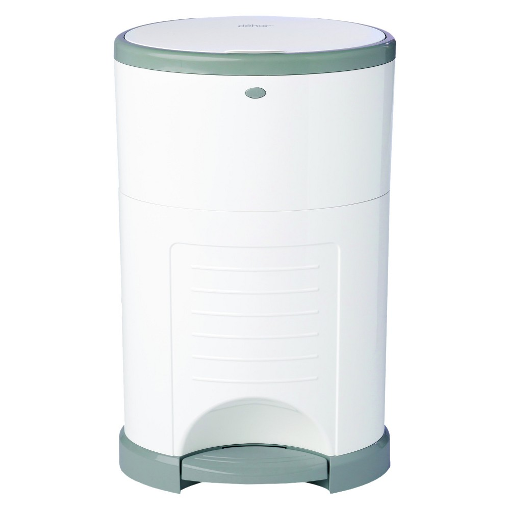 Image of Dekor Plus Hands Free Diaper Pail - White