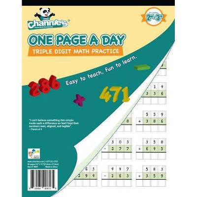Channie's One Page A Day Triple Digit Addition & Subtraction