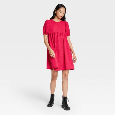 Women's Puff Short Sleeve Dress - Who What Wear™