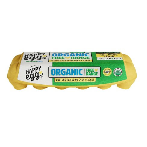 Happy Egg Co. Organic Large Grade A Eggs - 12ct - image 1 of 4