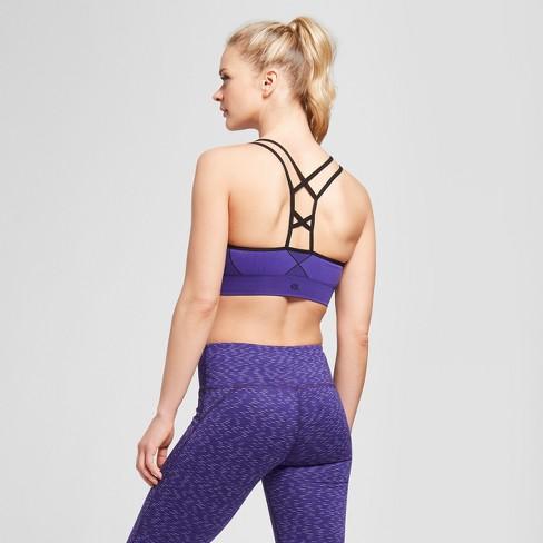 b00977d30142 Women s Seamless Strappy Cami Sports Bra - C9 Champion® Violet S   Target