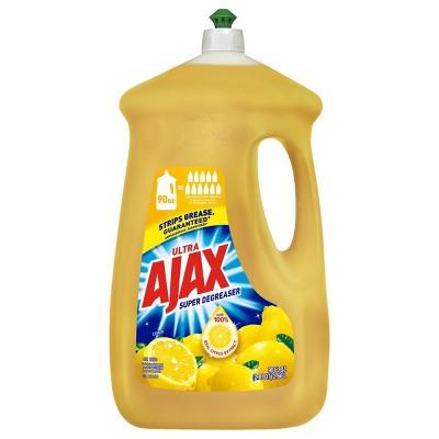 Ajax Ultra Super Degreaser Dishwashing Liquid Dish Soap - Lemon