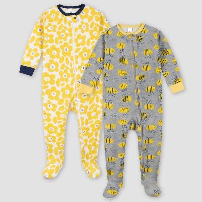 Gerber Girls' 2pk Snug Fit Footed Pajama - 6M