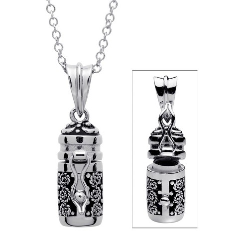Women's Prayer Keeper Antiqued Capsule Pendant - Silver - image 1 of 1