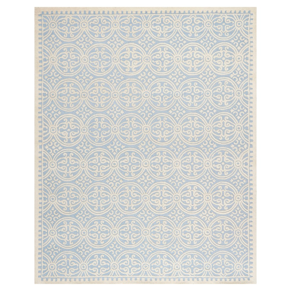 Light Blue/Ivory Color Block Tufted Area Rug 8'X10' - Safavieh