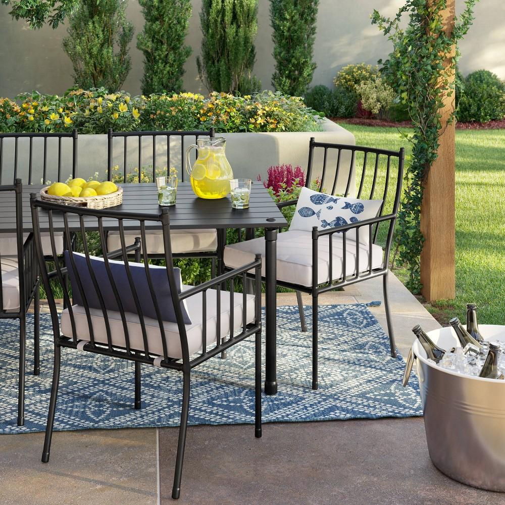 Fernhill 7pc Patio Dining Set - White - Threshold