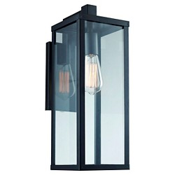 Bel Air Lighting Outdoor Wall Light Black