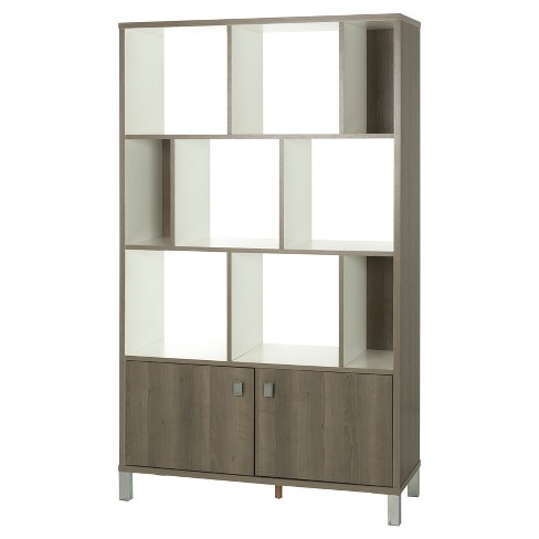 "Expoz 9 Cube Shelving Unit with Doors 65.25"" - South Shore® - image 1 of 10"