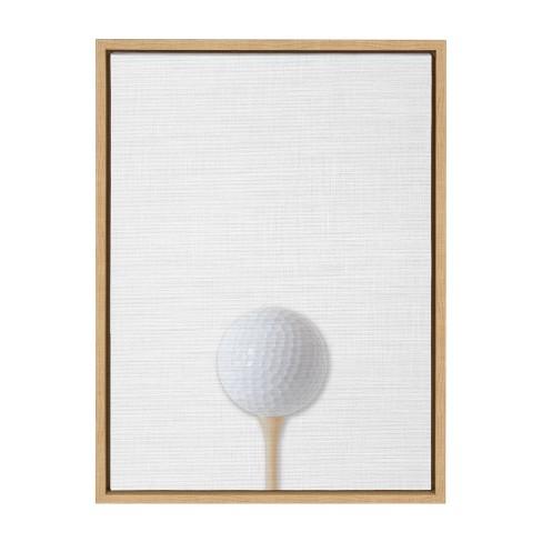 18 X 24 Sylvie Color Golf Ball Portrait On Linen Art Framed Canvas Wall Decor Designovation