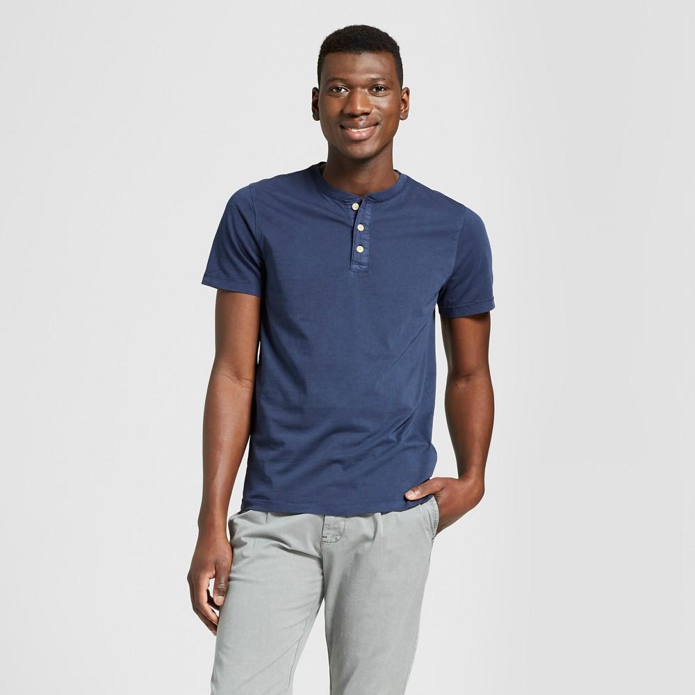 Men's Short Sleeve Henley Shirt - Goodfellow & Co Xavier Navy XL
