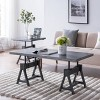 Sinclair Industrial Adjustable Height Coffee Table Gray - Aiden Lane - image 3 of 4